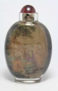 CHINESE HANDWORK INSIDE PAINTING FAVORITE OLD GLASS SNUFF BOTTLE