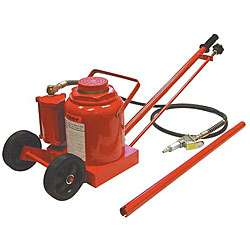 Air Hydraulic 50 ton Bottle Jack with Wheel Kit