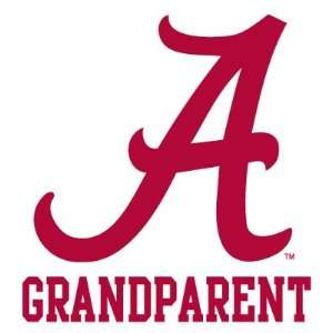 ALABAMA CRIMSON TIDE GRANDPARENT clear vinyl decal car
