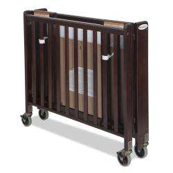 Folding Fixed Side Full Size Crib in Antique Cherry