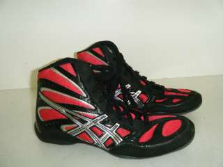 ASICS SPLIT SECOND Black/Red/Silver Wrestling Boots Mens Sz 9 US New