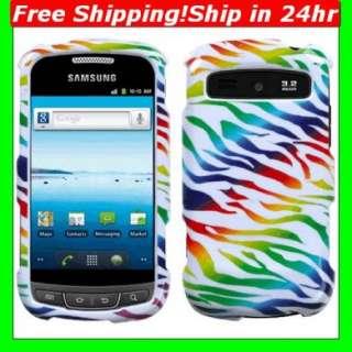 For Samsung Admire Vitality R720 Rainbow Zebra Skin Case Phone Hard