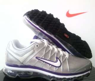 Nike Women Air Max 2009 Leather Silver/Purple sz 8.5