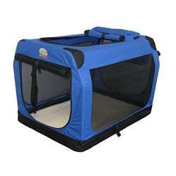 Go Pet Club Blue 48 inch Soft Folding Dog Crate House