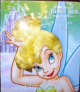 NEW DISNEY TINKERBELL TINKER BELL WIG DRESS UP COSTUME