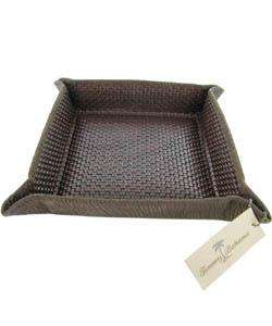 Tommy Bahama Mens Hand woven Leather Tray
