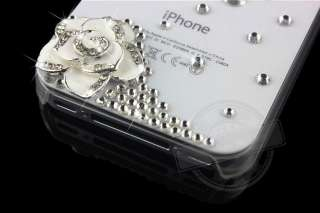 Handmade Luxury Bling Rhinestone Crystal Hard Case Cover iPhone 4 4G