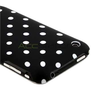 Black White Polka Dot Hard Plastic Case Cover for Apple iPhone 3G 3GS