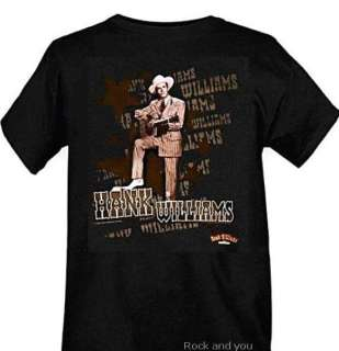 HANK WILLIAMS Sr country rock rare T Shirt S M L XL NWT