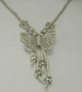 THAI KAREN Hill TRIBE SILVER Handmade Custom BUTTERFLY Necklace