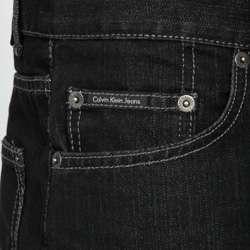 Calvin Klein Jeans Mens Black Straight Leg Jeans  Overstock