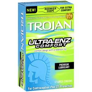Trojan ENZ Ultra Comfort Premium Latex Condoms, 12ct Medicine Cabinet