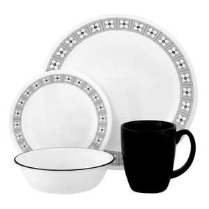 Corelle Livingware Floral Connection 16 Piece Dinner Set