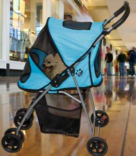 Pet Gear Dog Cat Carrier Stroller Blue PG8030IB