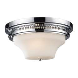 Polished Chrome 2 light Flush Mount Light