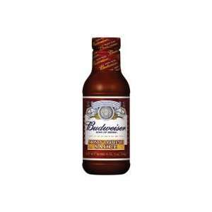 Budweiser Honey Barbecue Sauce 18 Oz (Pack of 6)  Grocery