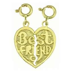 14k Yellow Gold Best Friend Breakable Charm