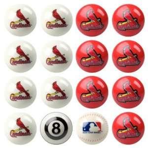 St. Louis Cardinals MLB Home vs. Away Billiard Balls Full Set (16 Ball