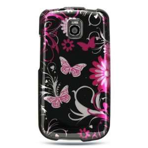 Black and Pink butterfly design for LG OPTIMUS T