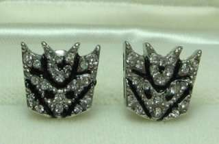 NEW Gold Plated TRANSFORMERS DECEPTICON AUTOBOTS EARRINGS SET