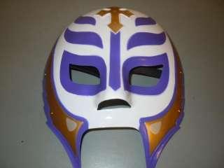 REY MYSTERIO KID WWE WHITE/PURPL PLASTIC WRESTLING MASK