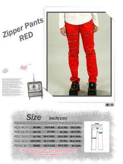 punk zipper lndependent visual goth clothes rock pants