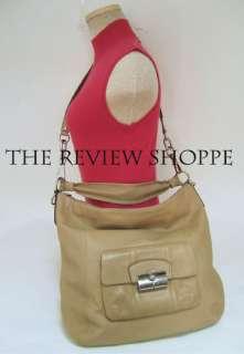 Coach 14769 Kristin Large Leather Hobo Convertible Shoulder Bag Beige