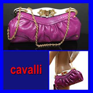 2,625 ROBERTO CAVALLI Ladies PYTHON BAG w/ Price Tag