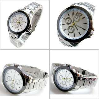 New Fashion Mens Ladies Steel Quartz Wrist Watch Gift