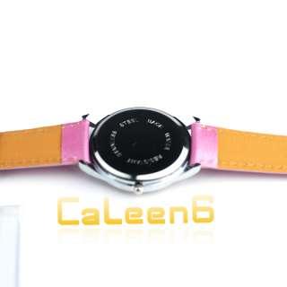 Crystal Heart Children Quartz Hell Kitty Wrist Watch 3 Colors