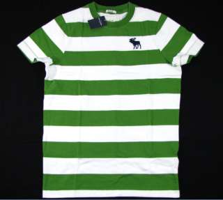 NWT ABERCROMBIE MUSCLE Crew Tee T Shirt Boys XL / Mens XS Green New