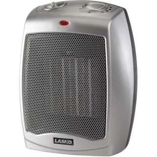 Lasko Products Ceramic 1500W Heater, Silver/Black