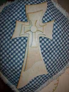 UNFINISHED WOOD LAYERED STACK CROSSES KIT #FU01   15
