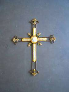 Large 33 x 25 Christian wall Cross gift primitive