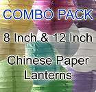 Chinese Paper Lanterns Weddings Bridal Birthday Party Prom COLORS