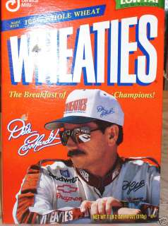DALE EARNHARDT NASCAR CHAMPION WHEATIES BOX