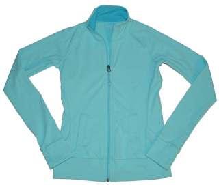 TUFF ATHLETICS Womens Thumb Hole Jacket YOGA Teal Green/Blue NEW Size