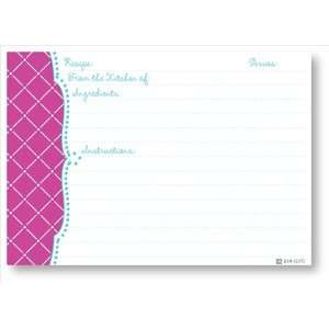 Recipe Cards   Fuschia Diamond Scalloped Edge Home & Kitchen