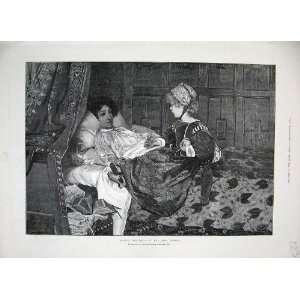 1888 Alma Tadema Little Girl Woman Bed Grosvenor Art