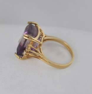 Vintage Ametrine 14k Gold Diamond Ring