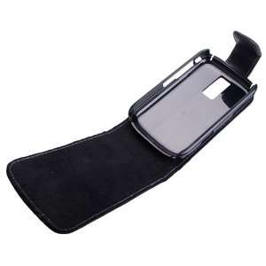 Genuine Leather Flip Case for Blackberry 9000 Bold Electronics