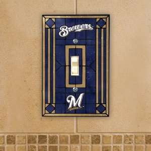 Pack of 4 Officially Licensed MLB Baseball Milwaukee Brewers Art Glass