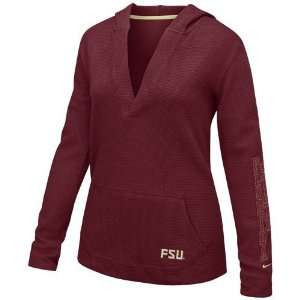Nike Florida State Seminoles (FSU) Ladies Garnet Waffle Thermal Hoody