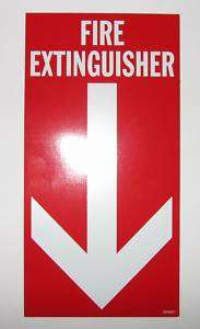 New FIRE EXTINGUISHER Magnetic Sign / Decal 10 X 5