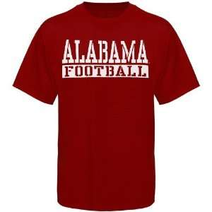 NCAA Alabama Crimson Tide Crimson Stencil Football T shirt