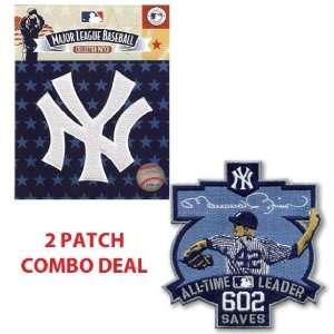 New York Yankees White NY and Mariano Rivera All Time Saves Leader 602