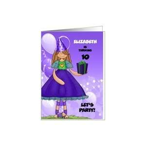 Personalized Birthday Party Invitation for Girl Age