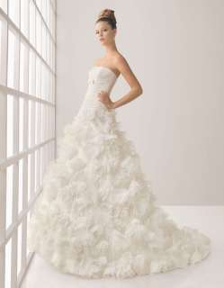 Gorgeous High quality Hand made Wedding Dress bridal Gown New Size