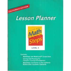 Houghton Mifflin Lesson Planner: Math Steps Level 5