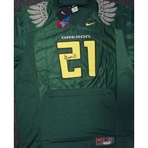 LaMichael James Autographed Nike Oregon Ducks Green Jersey